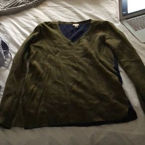 Olive green J Crew sweater